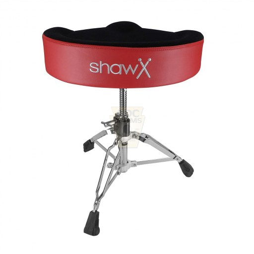Shaw-Motorcycle-Saddle-red-vinyl-cloth-top-Drum-Throne-rear