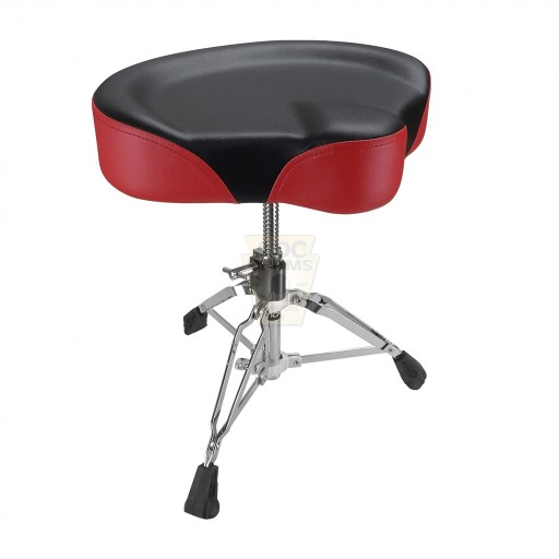 Shaw-Motorcycle-Saddle-black-red-Drum-Throne