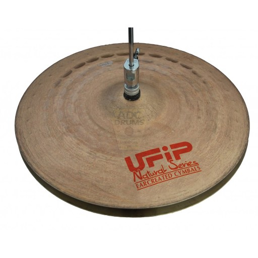 """UFIP Natural 13"""" Light Hi-Hat Cymbals 1"""