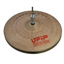 """UFIP Natural 13"""" Medium Hi-Hat Cymbals 1"""