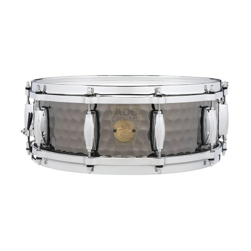 Gretsch Full Range Hammered Black Steel Snare Drum