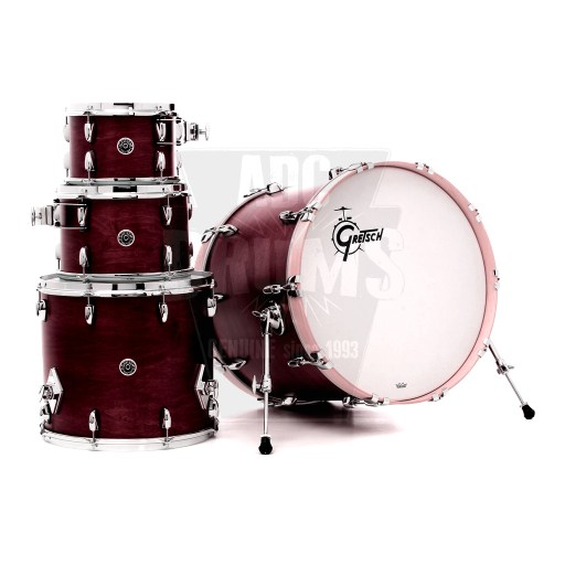 Gretsch_Brooklyn_Satin_Cherry_Red_4-Piece_shell-pack