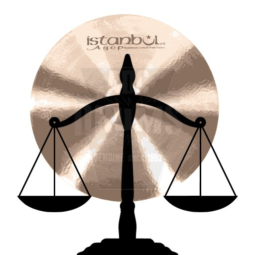 Weighing an Istanbul cymbal