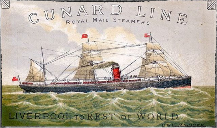 Cunard Royal Mail Packet Steamer image