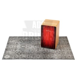 DRUMnBASE Vintage Persian Stage Mat, vintage grey colour, with Cajon