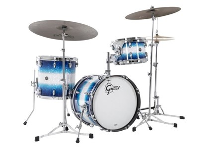 Gretsch Brooklyn Blue Burst Pearl Shell-Pack Bop sizes 2