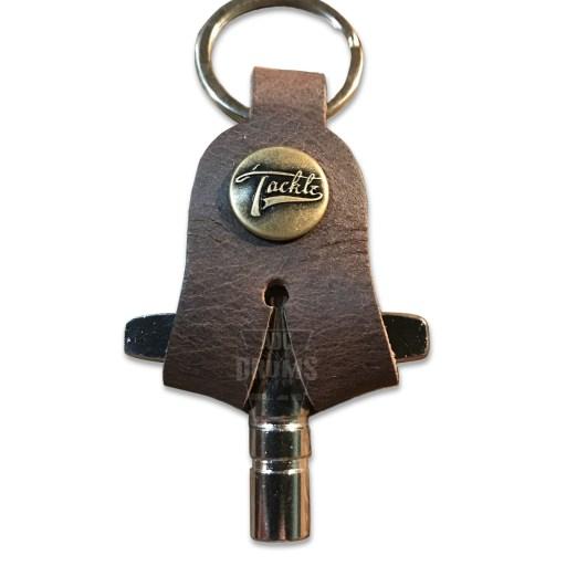 Tackle Walnut Script Brass Cap leather drum key case