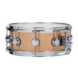 DW Collectors Series Bell Bronze Snare Drum with chrome hardware