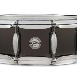 "Gretsch Full Range 14""x 5"" Black Steel Snare Drum 1"