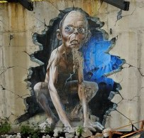 Gollum, one of many pieces of graffiti artwork at the seminary
