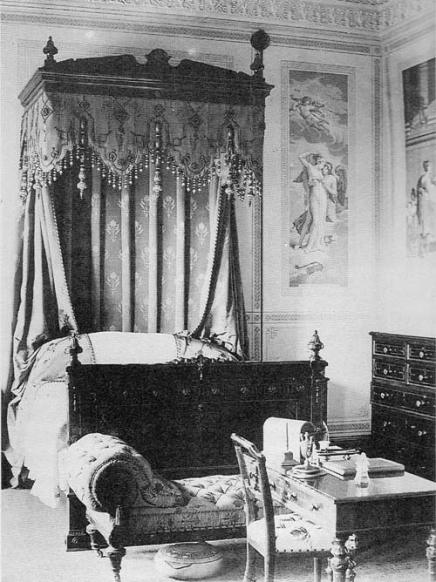 Psyche bedroom at Crawford Priory, c 1880 Copyright: www.rcahms.gov.uk