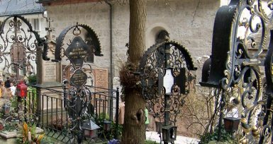 Wrought-iron over the graves