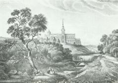 View of Glasgow Cathedral looking north & Fir Park on the right from the banks of the Molendinar Burn. Drawn by William Brown in 1822. http://www.theglasgowstory.com