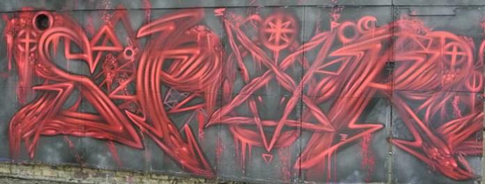 Graffiti art in an abandoned factory