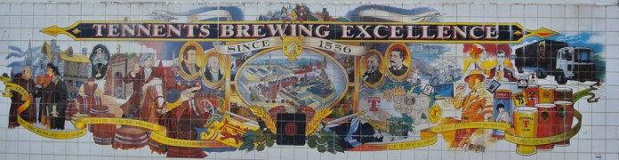 Tennents Brewery mural