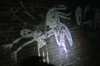 Strange creatures in the disused railway tunnels