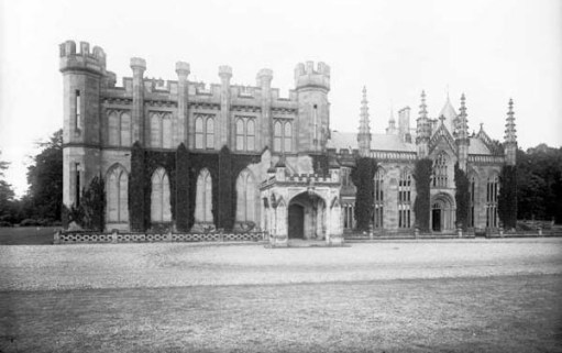 Black and white photo of Crawford Priory