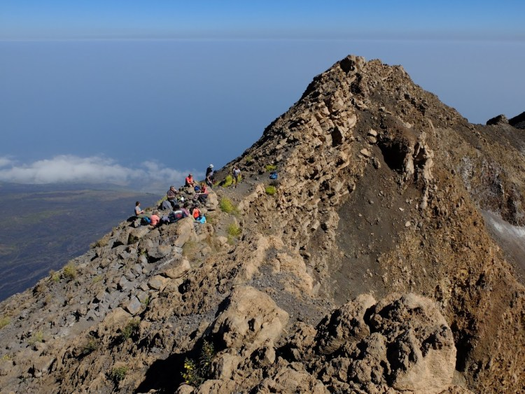 De beklimming van Pico Do Fogo