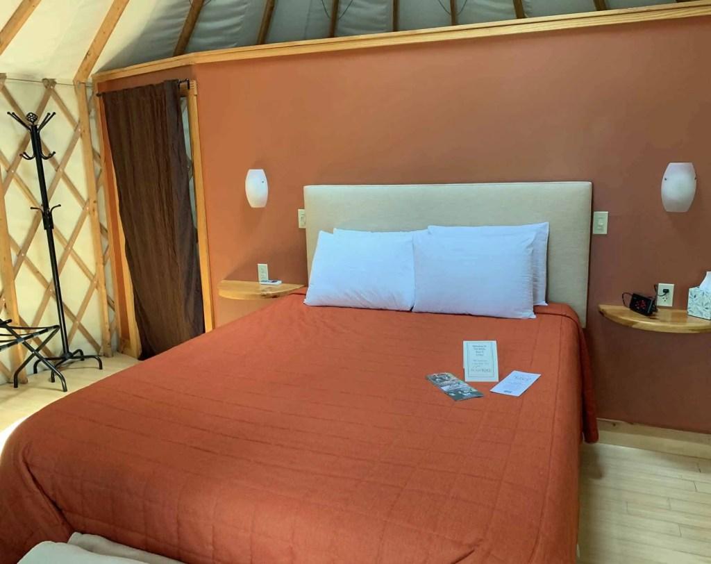 bed in yurt