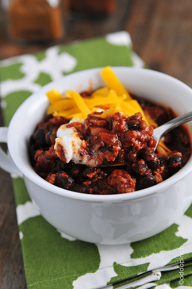 Weeknight Black Bean Chili Recipe Cooking Add A Pinch