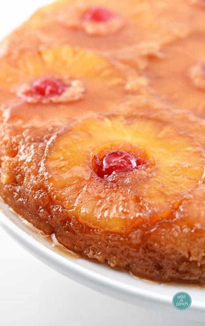 Topping Pineapple Upside Cake