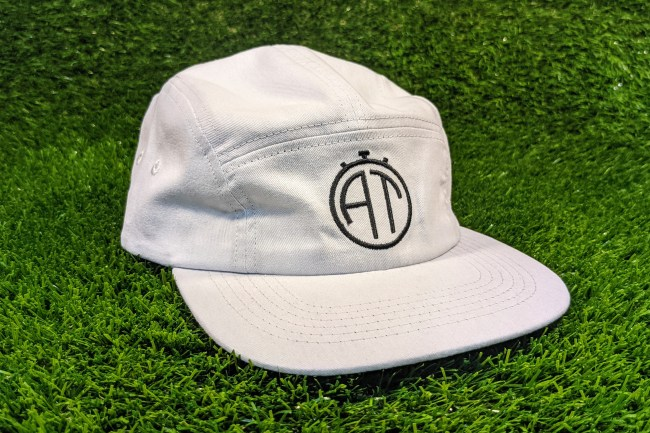 The front of the Added Time + Talisman 5-Panel Cap