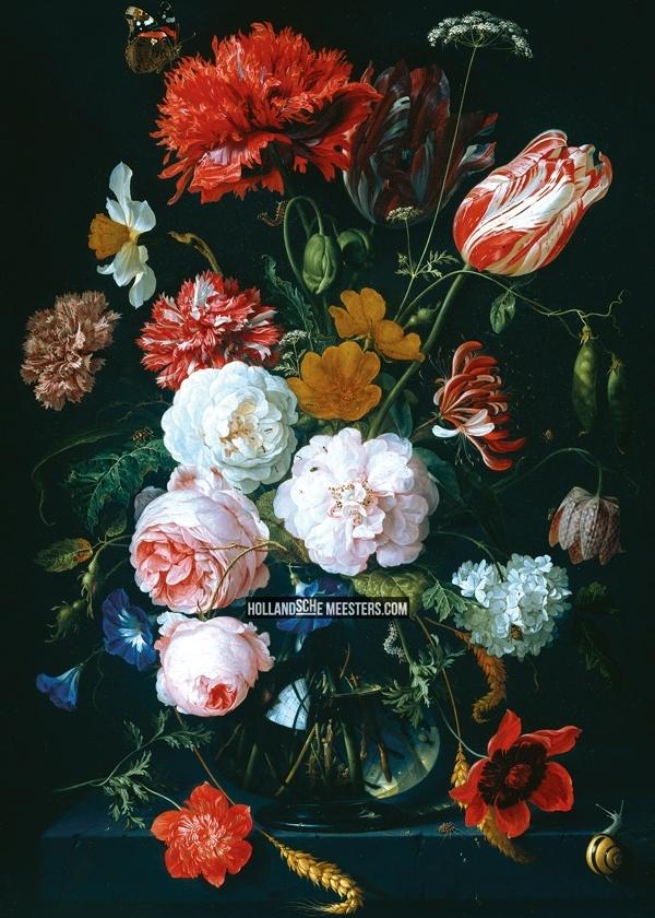 rembrandtbloemenopzwart