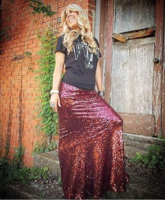 Cute Maxi Skirt Outfits To Impress Everybody06