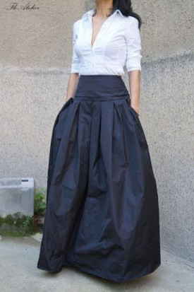 Cute Maxi Skirt Outfits To Impress Everybody16