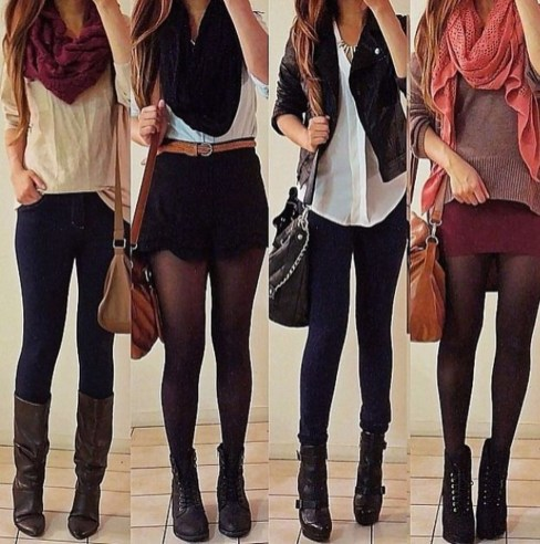 Cute Outfits Ideas With Leggings Suitable For Fall27