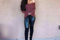Cute Outfits Ideas With Leggings Suitable For Fall29