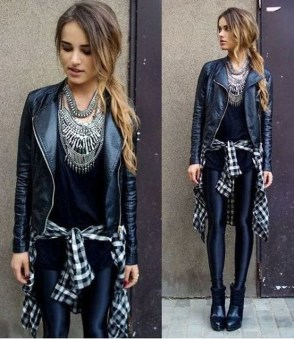 Cute Outfits Ideas With Leggings Suitable For Fall38