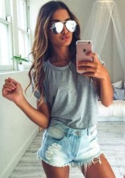 Easy And Cute Summer Outfits Ideas For School01