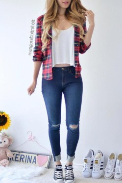 Easy And Cute Summer Outfits Ideas For School23