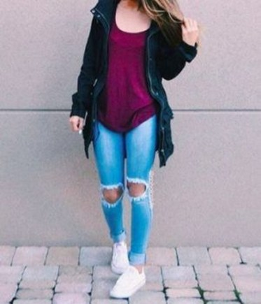 Easy And Cute Summer Outfits Ideas For School28