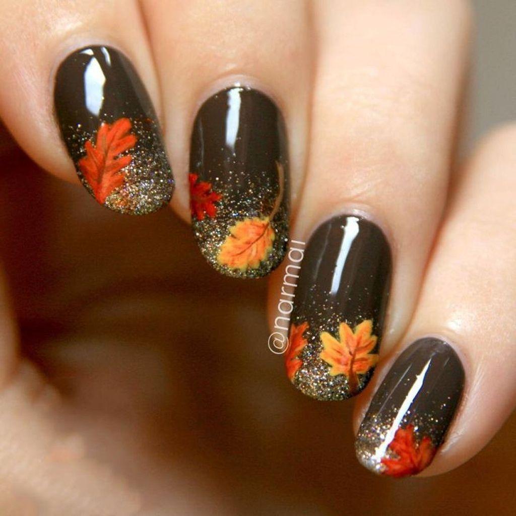 Eye Catching Fall Nails Art Design Inspirations Ideas21