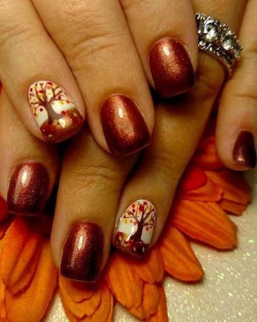 Eye Catching Fall Nails Art Design Inspirations Ideas28