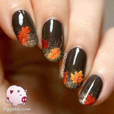 Eye Catching Fall Nails Art Design Inspirations Ideas32