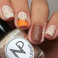 Eye Catching Fall Nails Art Design Inspirations Ideas43
