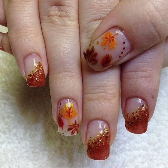 Eye Catching Fall Nails Art Design Inspirations Ideas46