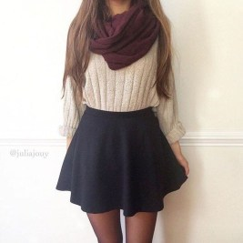Modest But Classy Skirt Outfits Ideas Suitable For Fall06