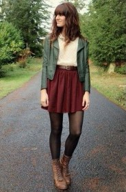 Modest But Classy Skirt Outfits Ideas Suitable For Fall12