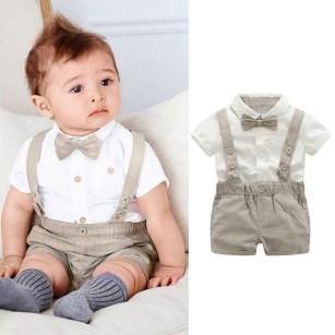Most Popular Newborn Baby Boy Summer Outfits Ideas21
