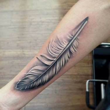 Awesome Feather Tattoo Ideas07