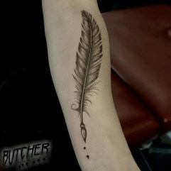 Awesome Feather Tattoo Ideas15