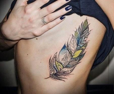 Awesome Feather Tattoo Ideas24