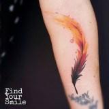 Awesome Feather Tattoo Ideas45