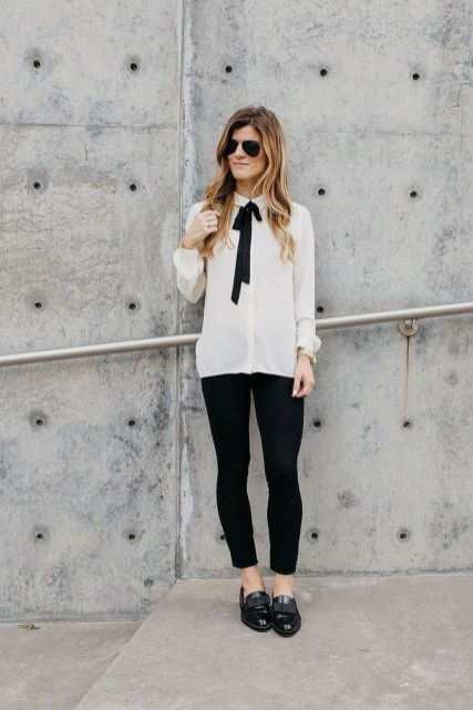 Magnificient Summer Outfit Ideas With Black Flats12