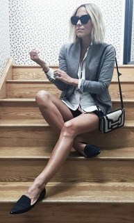 Magnificient Summer Outfit Ideas With Black Flats33