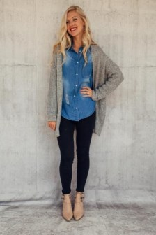 Unique Ways To Wear A Cardigan This Fall12